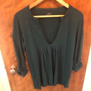 LOFT slub long sleeve tee Medium  Forest Green
